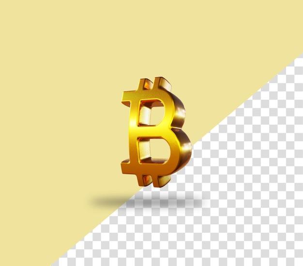 Cryptocurrency bitcoin gouden munt rendering icoon