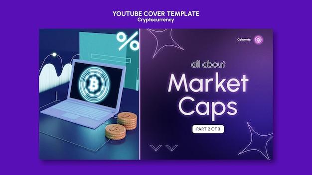 Cryptocurrency-ontwerpsjabloon van youtube-sjabloon