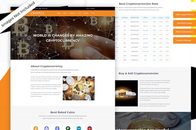 Cryptocurrency-websitesjabloon