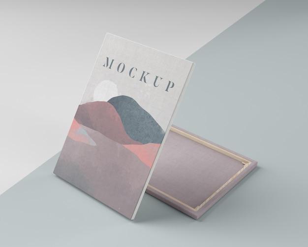 Cuadro de lienzo simulado con tela de lino