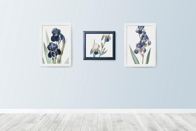 Cuadros florales en marcos.