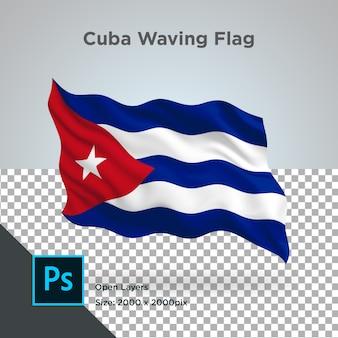Cuba vlag wave transparant psd