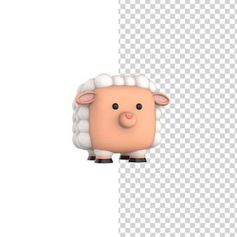 Cube happy sheep 3d rendermodel