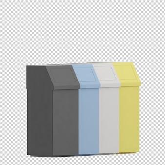 Cubos de basura isométricos