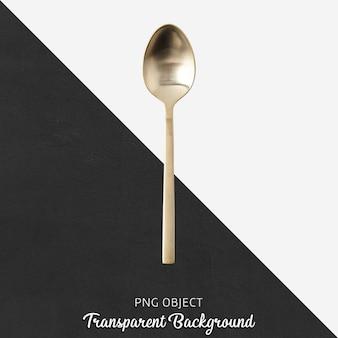 Cucchiaio d'oro su sfondo trasparente
