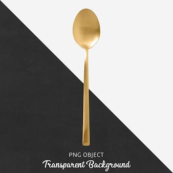 Cucchiaio d'oro trasparente