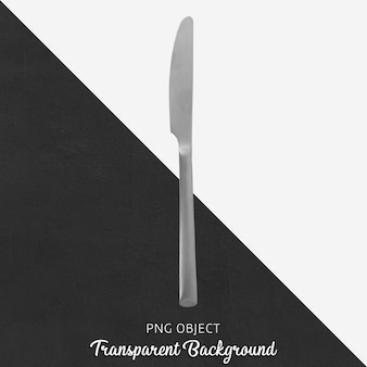 Cuchillo de comida plateado