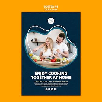 Cucinare a casa poster design