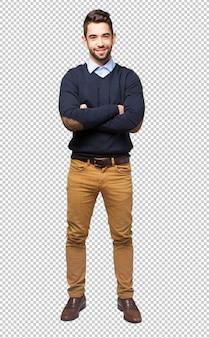 Cuerpo completo hombre elegante