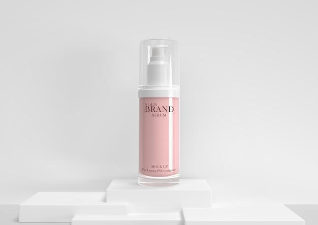 Cuidado de la piel hidratante cosmética productos premium psd premium.