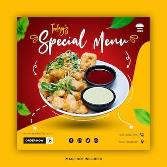 Culinair eten banner sociale media sjablonen plaatsen