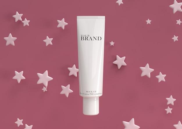 Cura della pelle prodotti cosmetici premium idratanti sulla superficie delle stelle