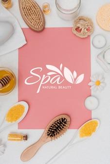 Cura della spa con prodotti naturali