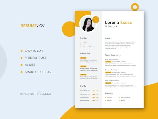Currículum de diseñador de ui