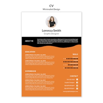 Curriculum vitae modello design minimalista