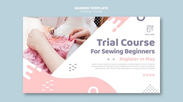 Curso de costura para principiantes plantilla de banner