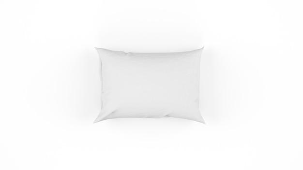 Cuscino bianco isolato