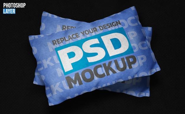 Cuscino quadrato design mockup