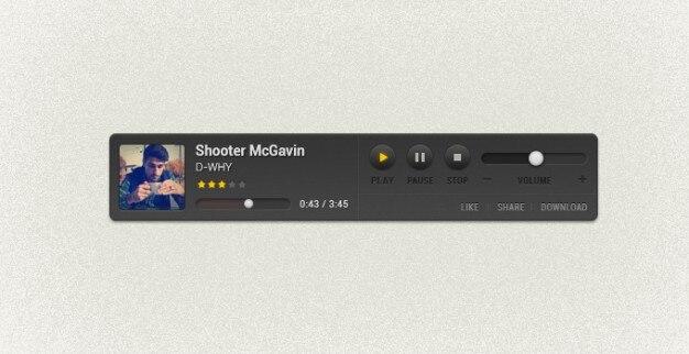 Custom stof freebie muziek pixel-speler