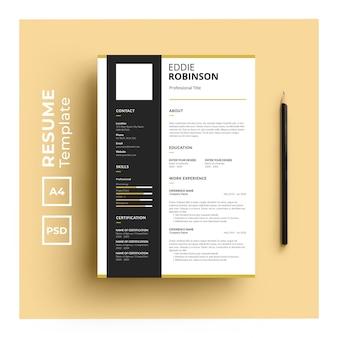 Cv-sjabloon met minimalistisch ontwerp