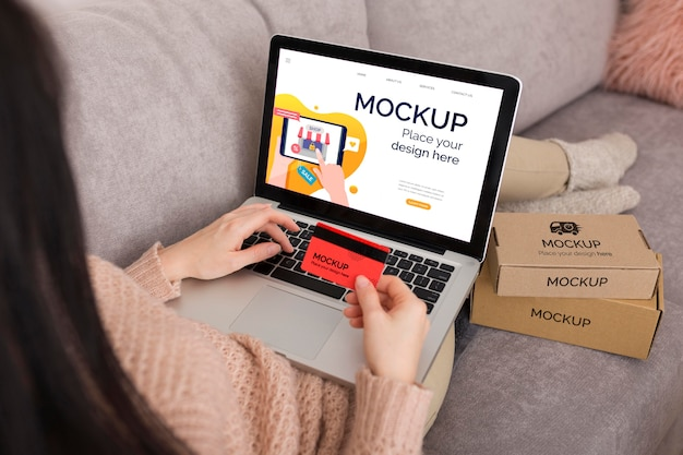 Cyber maandag concept mock-up