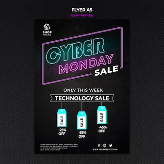 Cyber maandag concept sjabloon folder