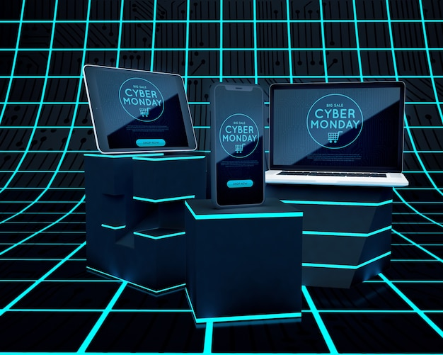 Cyber maandag elektronische apparaataanbieding