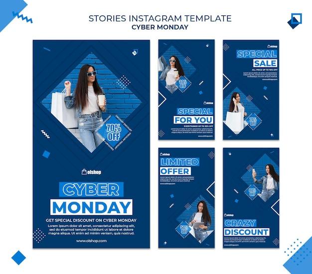 Cyber maandag instagram verhalen sjabloon