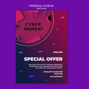 Cyber maandag poster sjabloon