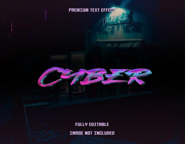 Cyber tekst effect