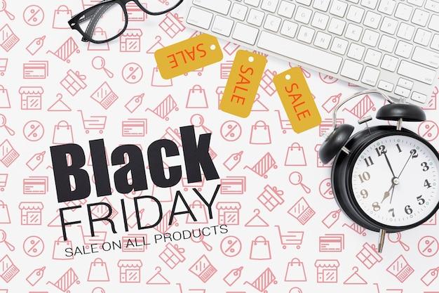Cyber zwarte maandag promotionele verkoop