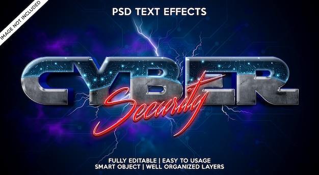 Cyberbeveiliging teksteffect sjabloon