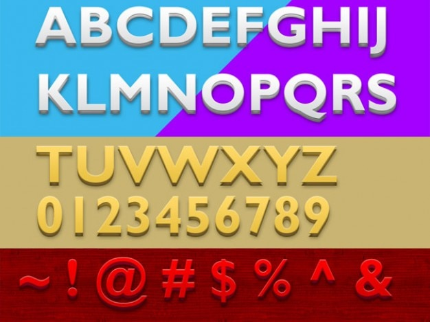 D photoshop tekststijlen