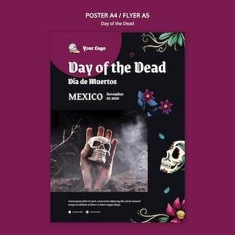 Dag van de dode poster sjabloon