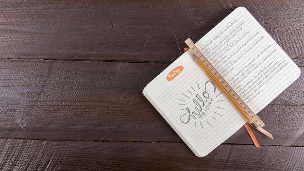 Dagboekmodel met copyspace
