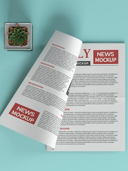 Dagelijkse krant mockup-sjabloon