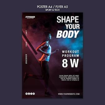 Dai forma al modello di poster del tuo corpo