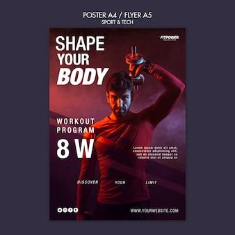 Dai forma al modello di volantino del tuo corpo
