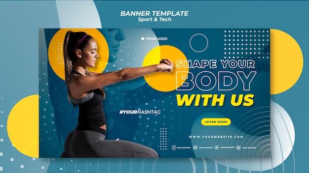 Dale forma a la plantilla de banner de tu cuerpo