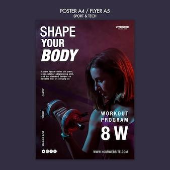 Dale forma a la plantilla de concepto de tu cuerpo