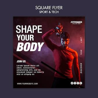 Dale forma a la plantilla de tu cuerpo