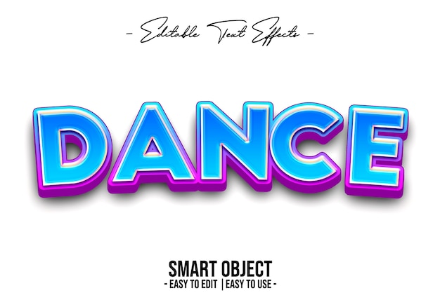 Dance-text-style-effect