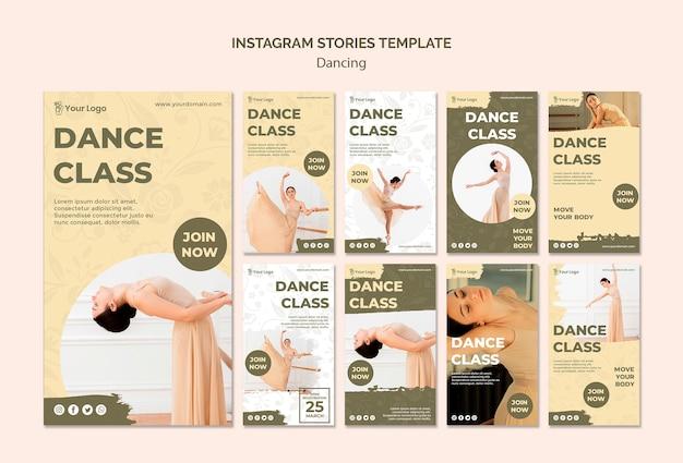 Dansles instagram verhalen sjabloon