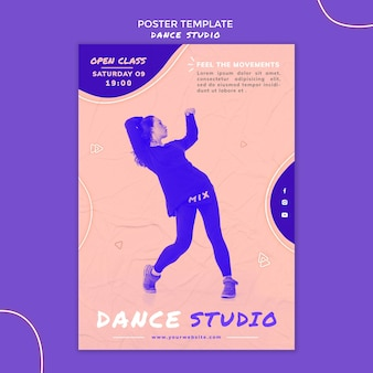 Dansstudio folder sjabloon