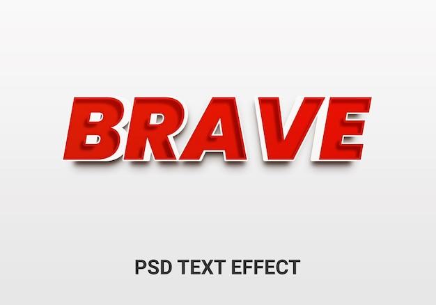 Dappere bewerkbare teksteffecten