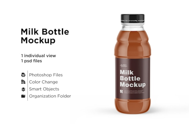 Dark juice bottle mockup