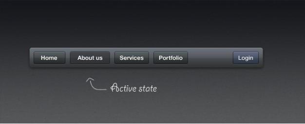 Dark navigatie-interface