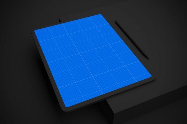 Dark tablet v.2 mockup