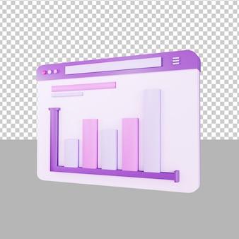 Dashboardgegevens 3d illustratie zakelijk