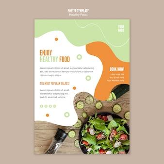 Date un capricho con la plantilla de volante de alimentos saludables